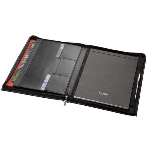 A4 Zipper Leather Portfolio | Executive Corporate Gifts Singapore