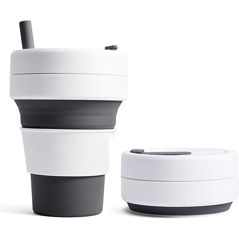 Eco-friendly Collapsible Cup with Straw | Executive Corporate Gifts Singapore