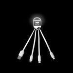 3-in-1 Fast Charging Cable with LED Logo