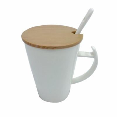 Ceramic Mug with Wooden Lid Cover | Executive Corporate Gifts Singapore