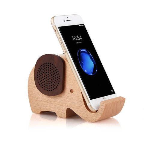 Eco Friendly Wooden Speaker with Phone Holder