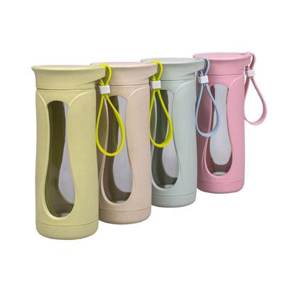 Eco Friendly Wheat Straw Glass Bottle | Executive Corporate Gifts Singapore
