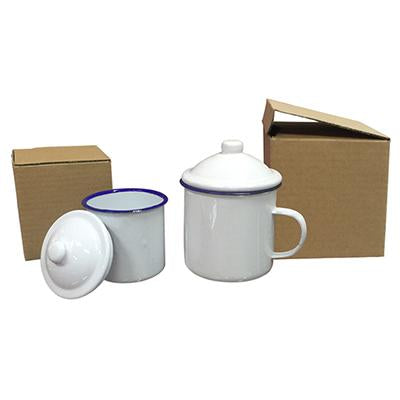 Vintage Design Enamel Mug with Cover | Executive Corporate Gifts Singapore
