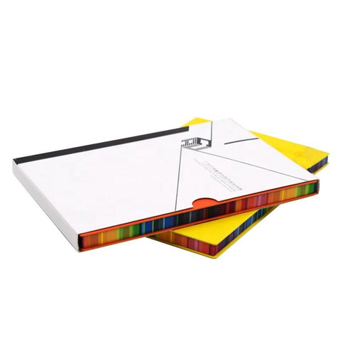 Hard Cover Leather Notebook with Rainbow Edge