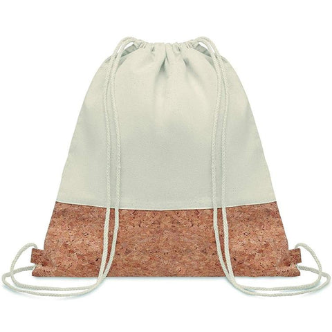 Eco-Friendly Cotton and Cork Drawstring Bag | Executive Door Gifts