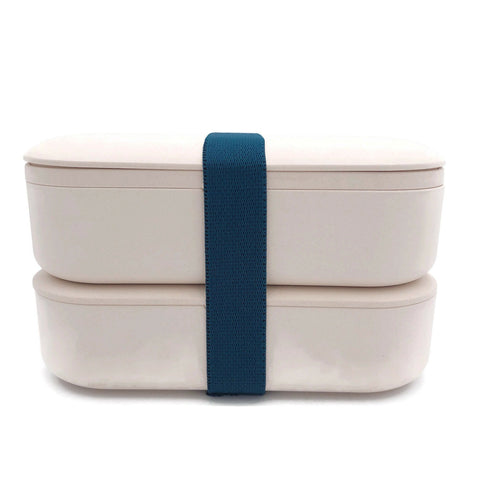 Eco-Friendly Bamboo 2-Tier Lunch Box with Cutlery Set | Executive Corporate Gifts Singapore