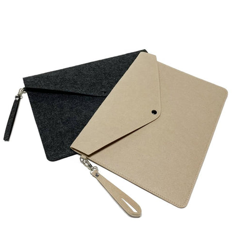 A4 Wool Felt Document Pouch | Executive Corporate Gifts Singapore