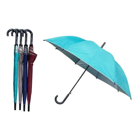 "24"" Regular Auto Open Straight Umbrella with UV Coated 