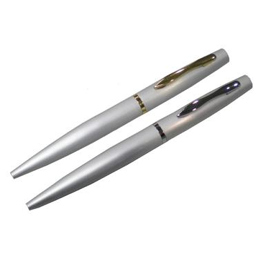 Matt Silver Ballpoint Pen | Executive Corporate Gifts Singapore