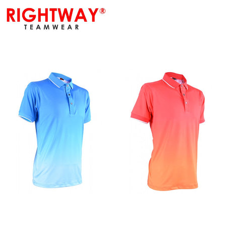 Rightway MOF 30 Neon-Tech Gradient Polo T-Shirt | Executive Corporate Gifts Singapore