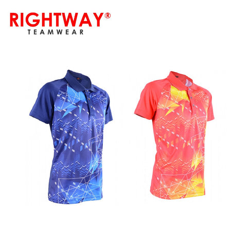 Rightway MOF 31 Neon-Tech Abstract Sublimation Polo T-Shirt | Executive Corporate Gifts Singapore