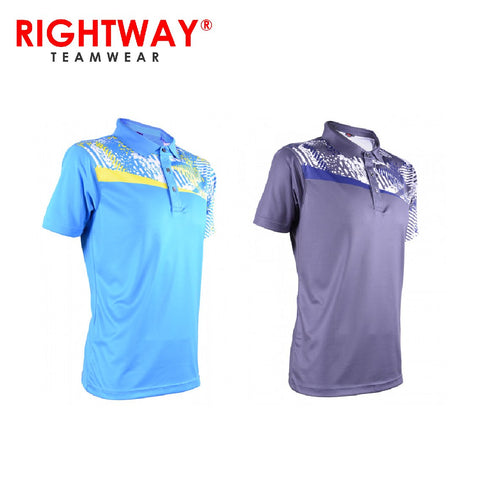 Rightway MOF 34 Neon-Tech Asymmetric Collared Sublimation Polo T-Shirt | Executive Corporate Gifts Singapore