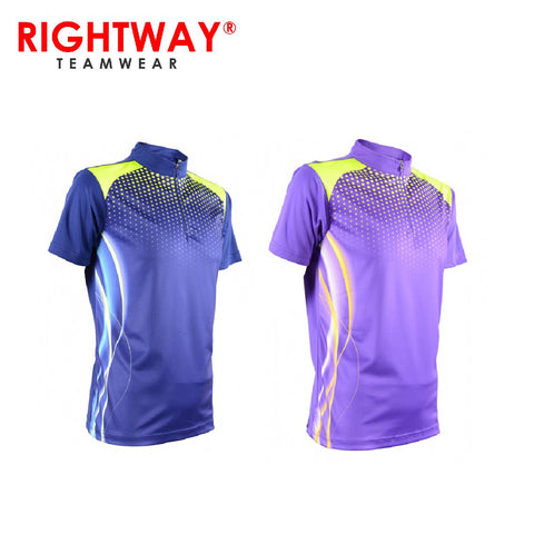 Rightway MOF 35 Neon-Tech Racing Zipper Polo T-Shirt | Executive Corporate Gifts Singapore