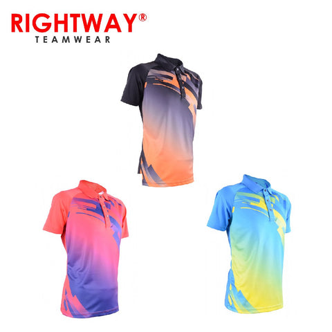Rightway MOF 36 Neon-Tech Time Lapse Collared Polo T-Shirt | Executive Corporate Gifts Singapore