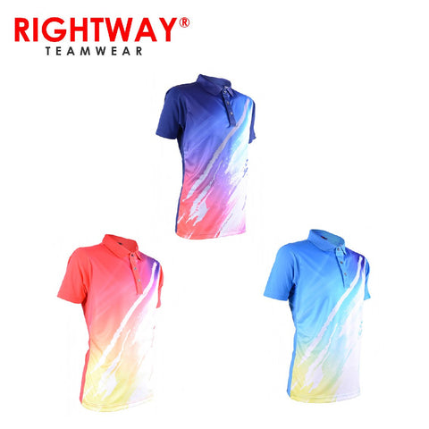RightWay MOF 37 Neon-Tech Fine Art Collared Polo T-Shirt | Executive Corporate Gifts Singapore