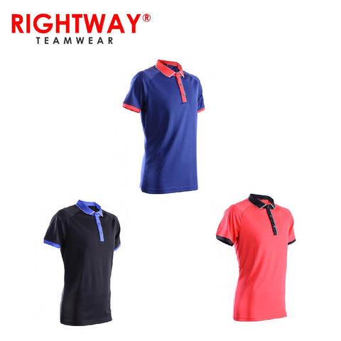Rightway MOP 46 Reflective Placket Design Polo T-Shirt | Executive Corporate Gifts Singapore