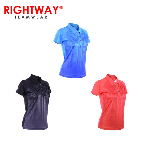 Rightway WOF 32 Women Reflective Collared Sublimation Polo  T-Shirt | Executive Corporate Gifts Singapore