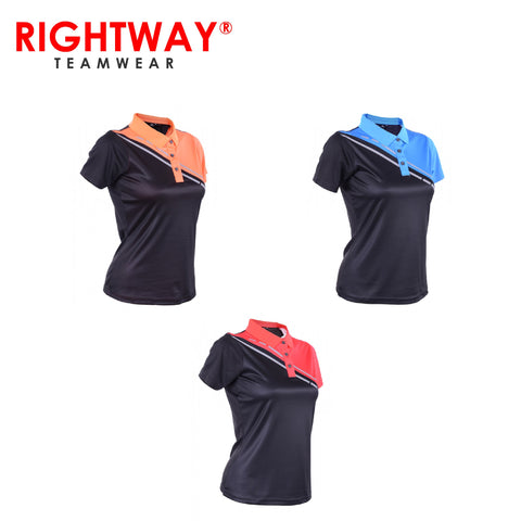 Rightway WOP 43 Women Reflective Cross Design Polo T-Shirt | Executive Corporate Gifts Singapore