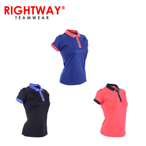 Rightway WOP 46 Women Reflective Placket Design Polo T-Shirt | Executive Corporate Gifts Singapore