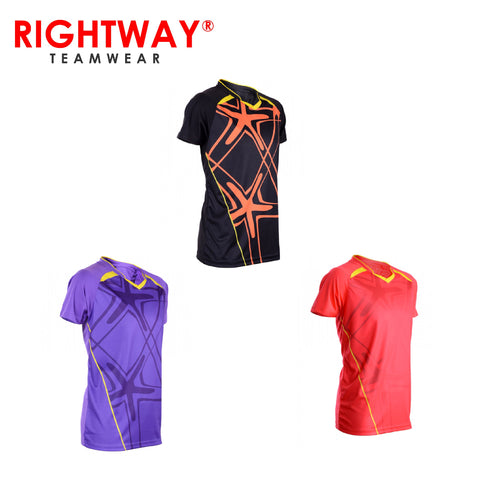Rightway MOV 41 Neon-Tech Red Hawk V-Neck T-Shirt | Executive Corporate Gifts Singapore