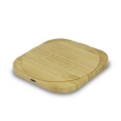 Eco Friendly Bamboo Wireless Charger | Executive Corporate Gifts Singapore