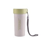 Wheat Straw Water Bottle with Lid and Strap | Executive Corporate Gifts Singapore