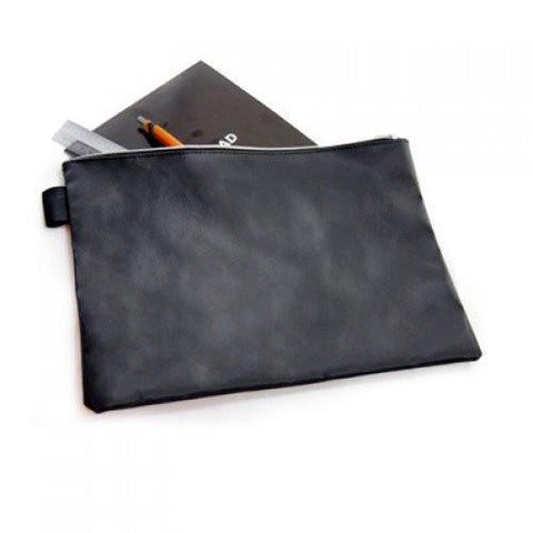 A4 Black Leather Document Pouch | Executive Corporate Gifts Singapore