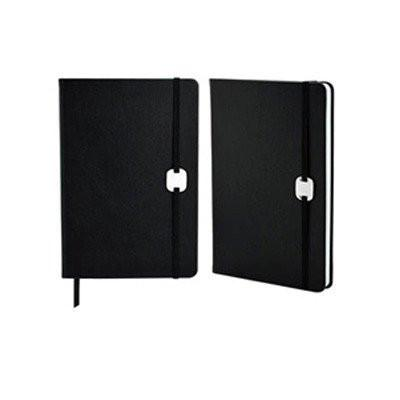 A5 Hard Cover Notebook with Metal Plate - abrandz