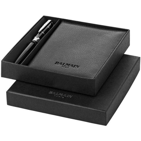 Balmain Ballpoint Pen and Passport Holder Gift Set | Executive Corporate Gifts Singapore