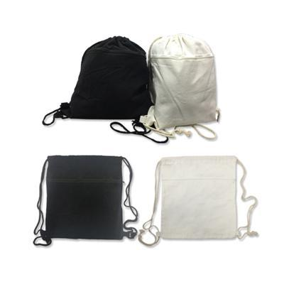 Cotton Canvas Drawstring Bag with Zip Compartment | Executive Corporate Gifts Singapore