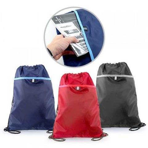 Drawstring Bag with Valuable Pocket | Executive Corporate Gifts Singapore
