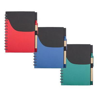 Eco-Friendly Notebook With Pen & Pocket - abrandz