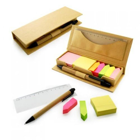 Eco Friendly Post-It Pad With Ruler And Pen | Executive Corporate Gifts Singapore