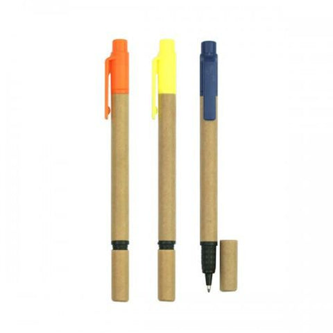 Eco Friendly Recycled Paper Ball Pen & Highlighter | Executive Corporate Gifts Singapore