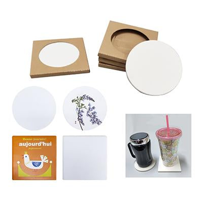 Ceramic Coaster with indivdual kraft paper box | Executive Corporate Gifts Singapore