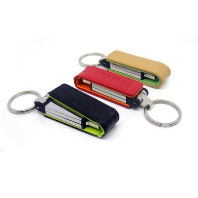 Flip Leather USB Drive - abrandz