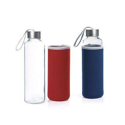 Glass Bottle with Neoprene sleeve | Executive Corporate Gifts Singapore