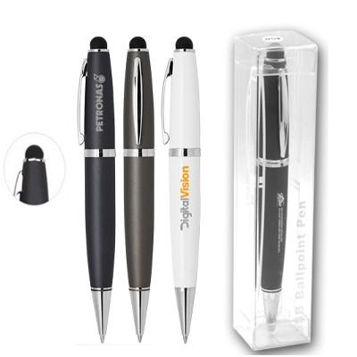 Gen USB Flash Drive Ball Pen with Stylus | Executive Corporate Gifts Singapore