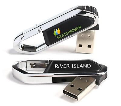 Carabiner Metal USB Flash Drive | Executive Corporate Gifts Singapore