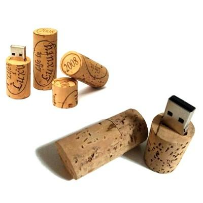 Wine Cork Recycled Wood USB Flash Drive | Executive Door Gifts