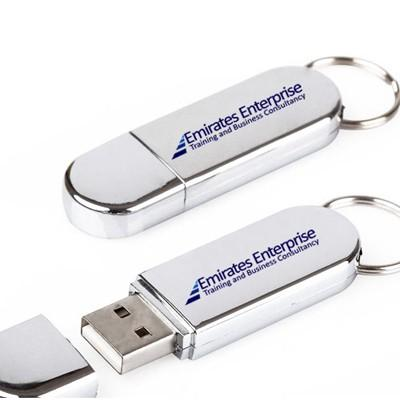 Metallic Shine USB Flash Drive with Key Ring | Executive Corporate Gifts Singapore