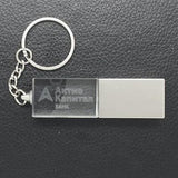 LED Crystal USB Drive with Key Chain | Executive Corporate Gifts Singapore