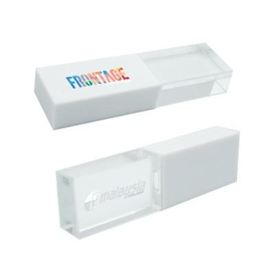 Clear White Crystal USB Drive with LED Light | Executive Corporate Gifts Singapore