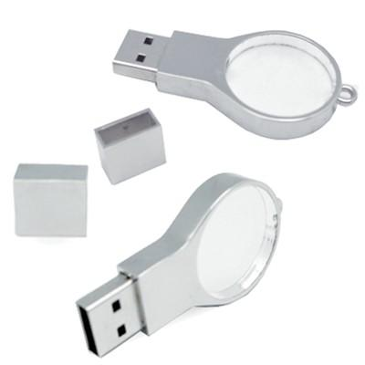 Magnifier Shape Crystal USB Memory Drive with LED Light | Executive Door Gifts