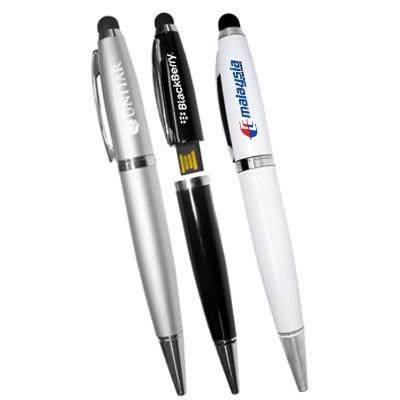 Promotional USB Flash Drive Ball Pen with Stylus | Executive Corporate Gifts Singapore