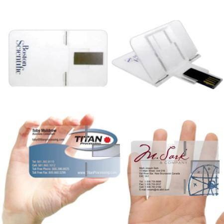 Transparent FoldCard USB Flash Drive | Executive Corporate Gifts Singapore
