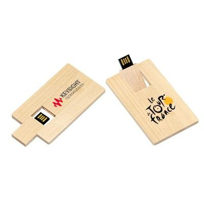 Wooden Card USB Flash Drive | Executive Corporate Gifts Singapore