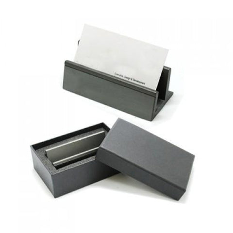 Gun Metal Name Card Holder | Executive Corporate Gifts Singapore