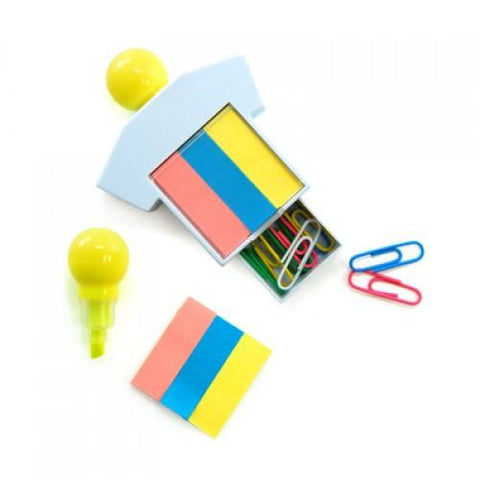 Highlighter With Post It Pad And Paper Clips | Executive Door Gifts