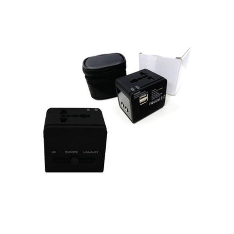 Universal Travel Adaptor with 2 USB Hub | Executive Corporate Gifts Singapore
